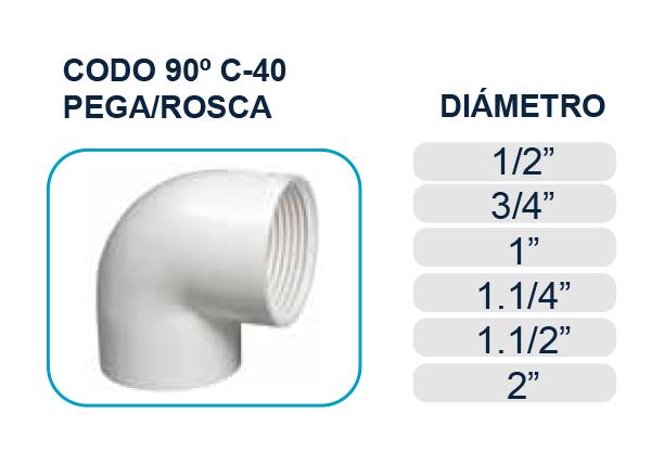 codo-90-pega-rosca-cedula-40-agua-piscina-los-hidros-riobamba-quito-latacunga-ecuador