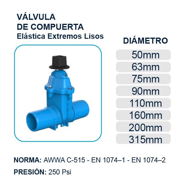 valvulas-compuerta-elastica-extremos-lisos-pvc-hierro-ductil-apolo-riobamba-quito-ecuador